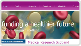 Website Design - Medical Research Scotland