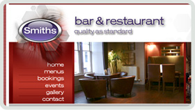 Website Design - Smiths Bar and Restaurant, Ayr