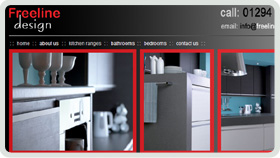 Website Design - Freeline Design Kitchens, Bathrooms and Bedrooms