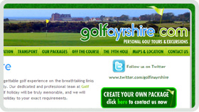 Website Design - Golf Ayrshire