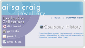 Website Design - Ailsa Craig Curling Jewellery