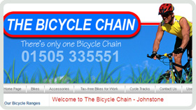 Website Design - The Bicycle Chain