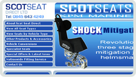 Website Design - Scot Boat Seats