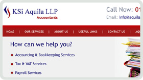 Website Design - KSi Aqula LLP