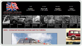 Website Design - Armoured Vehicles International