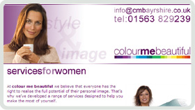 Website Design - Colour Me Beautiful Ayrshire
