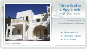 Website Design - Nikitas Apartments, Pefkos
