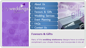 Website Design - City Weddings