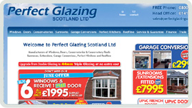 Website Design - Perfect Glazing Scotland