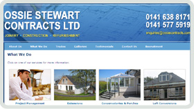 Website Design - Ossie Stewart Contracts Ltd