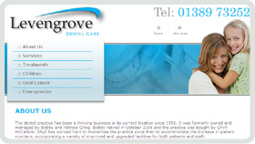 Website Design - Levengrove Dental Care