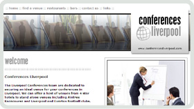 Website Design - Conferences Liverpool