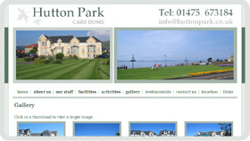 Website Design - Hutton Park Care Home