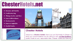 Website Design - Chester Hotels
