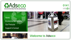 Website Design - Adseco Environmentally Friendly Advertising