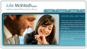 Website Design - Julie McIntosh Independent Financial Advice - Ayrshire