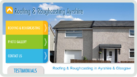 Website Design - Roofing & Roughcasting Ayrshire