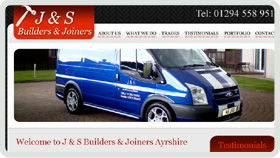 Website Design - J and S Builders and Joiners Ayrshire