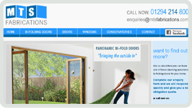 Website Design - MTS Fabrications Ayrshire