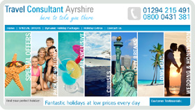 Website Design - Travel Consultant Ayrshire