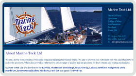 Website Design - Marine Teck