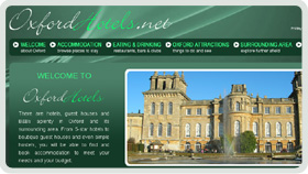 Website Design - Oxford Hotels