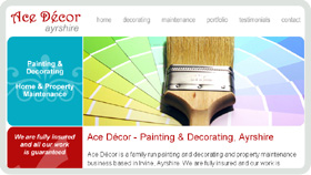 Website Design - Ace Decor Painter Decorator Ayrshire
