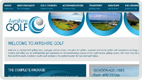 Website Design - Ayrshire Golf