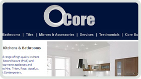 Website Design - Core Kitchens and Bathrooms