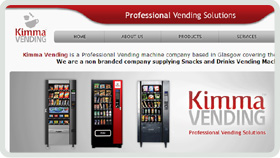 Website Design - Kimma Vending Machines